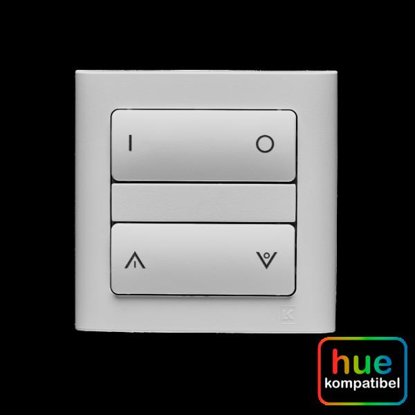 Hue kompatibel zigbee batteritryk med symboltangenter Fuga lysegrå